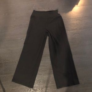 Used black wide leg Lululemon pants